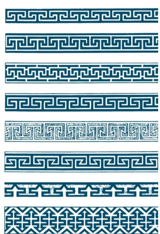 传统蒙古锤子形状边框花纹图片