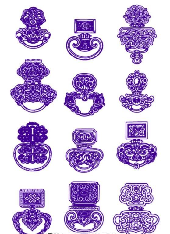 蒙古民族装饰品图片