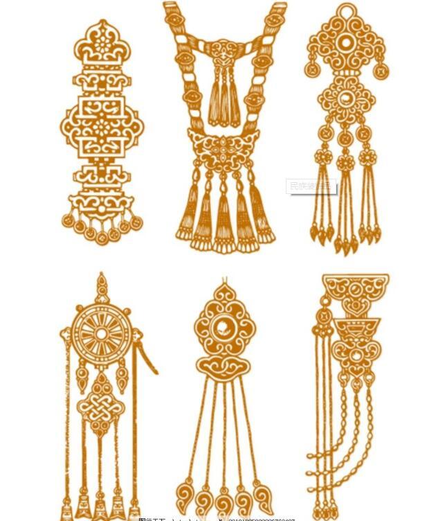 蒙古头饰装饰品图片1