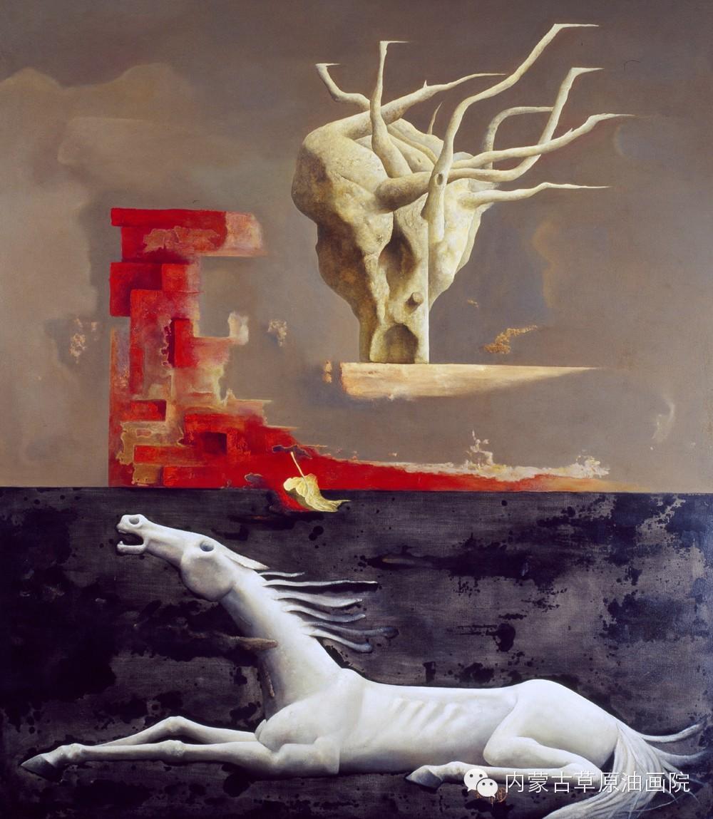 内蒙古草原油画院画家--格日勒图 第9张