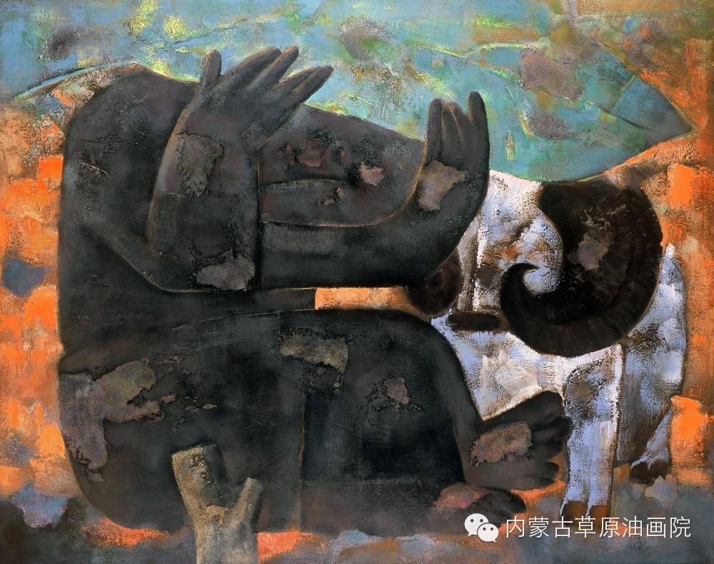 内蒙古草原油画院画家--格日勒图 第13张