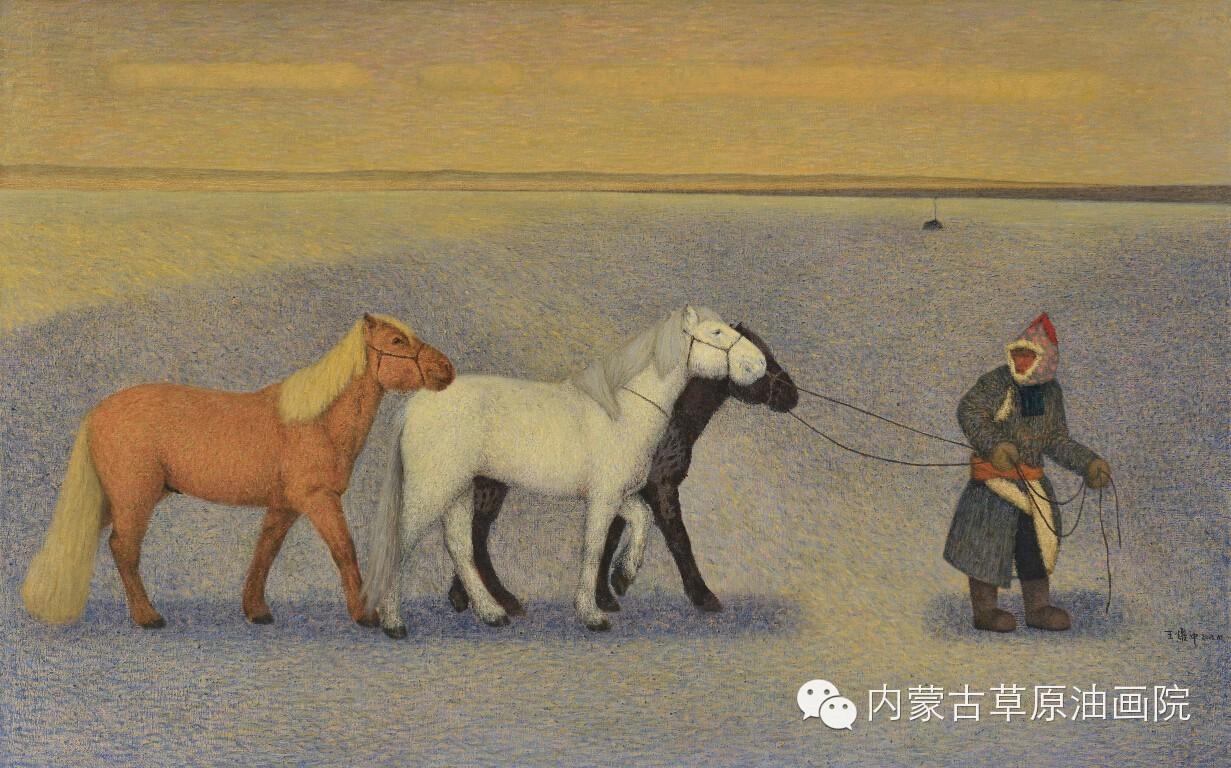 内蒙古草原油画院画家--王耀中 第5张