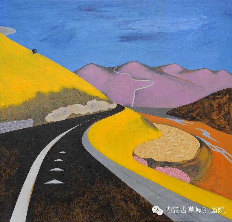 内蒙古草原油画院画家--王耀中 第6张