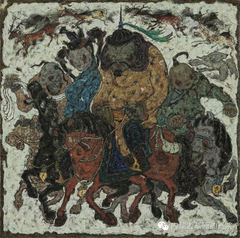 内蒙古草原油画院画家--哈斯乌拉 第5张