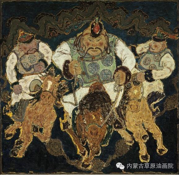 内蒙古草原油画院画家--哈斯乌拉 第8张