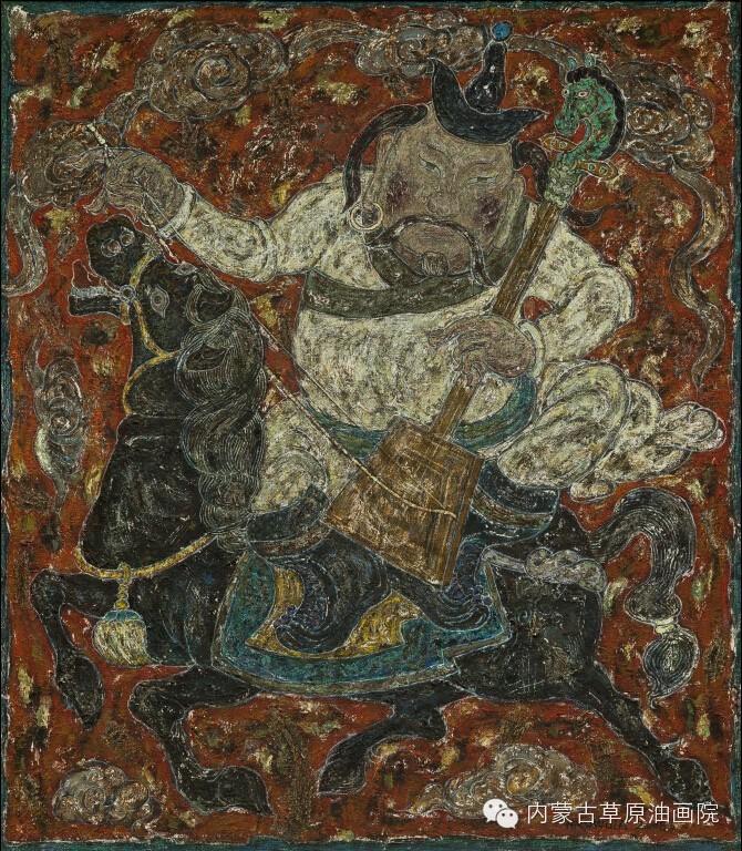 内蒙古草原油画院画家--哈斯乌拉 第10张