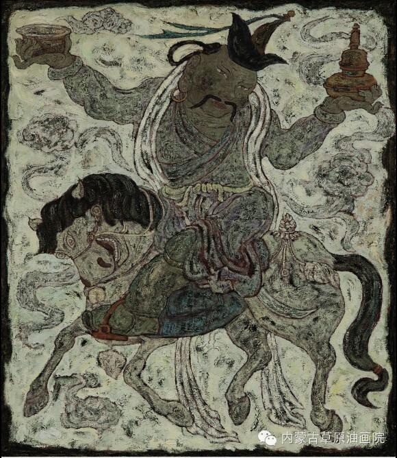 内蒙古草原油画院画家--哈斯乌拉 第11张