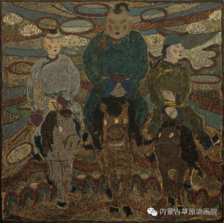 内蒙古草原油画院画家--哈斯乌拉 第13张
