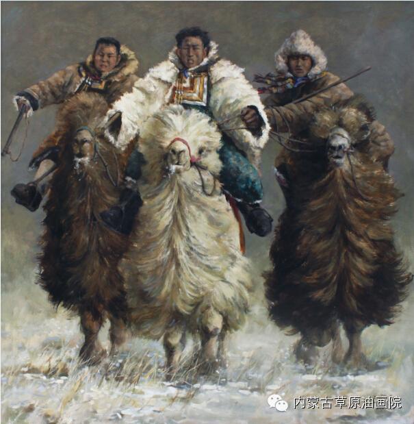 内蒙古草原油画院画家--包都荣 第7张