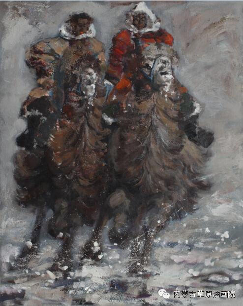 内蒙古草原油画院画家--包都荣 第10张