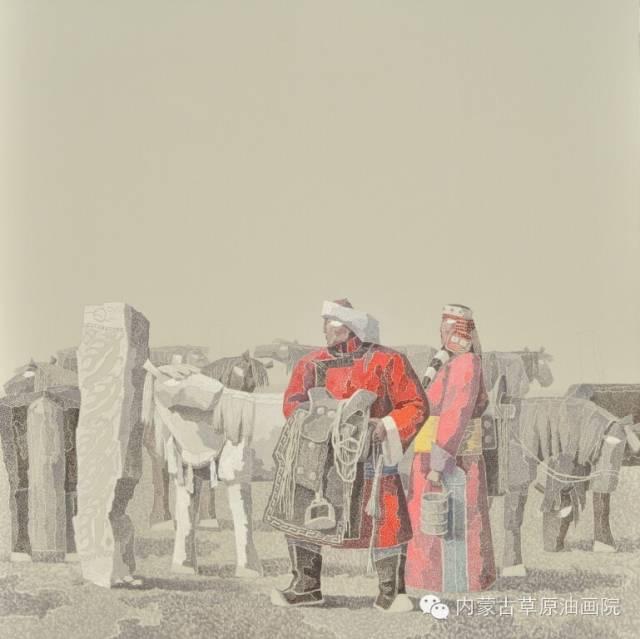 内蒙古草原油画院画家--都仁毕力格 第5张