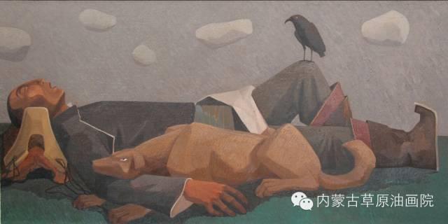 内蒙古草原油画院画家--都仁毕力格 第2张