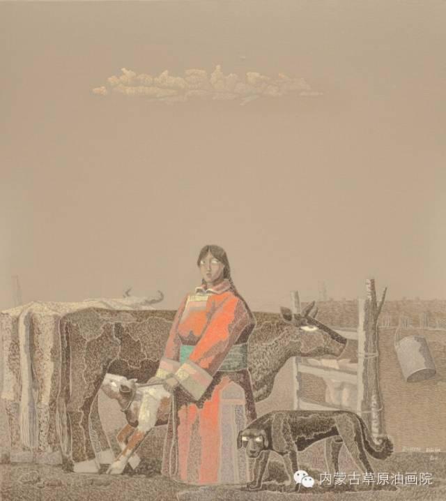 内蒙古草原油画院画家--都仁毕力格 第3张