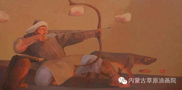 内蒙古草原油画院画家--都仁毕力格 第13张