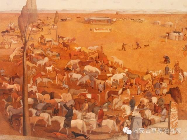 内蒙古草原油画院画家--都仁毕力格 第12张