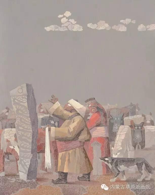 内蒙古草原油画院画家--都仁毕力格 第9张