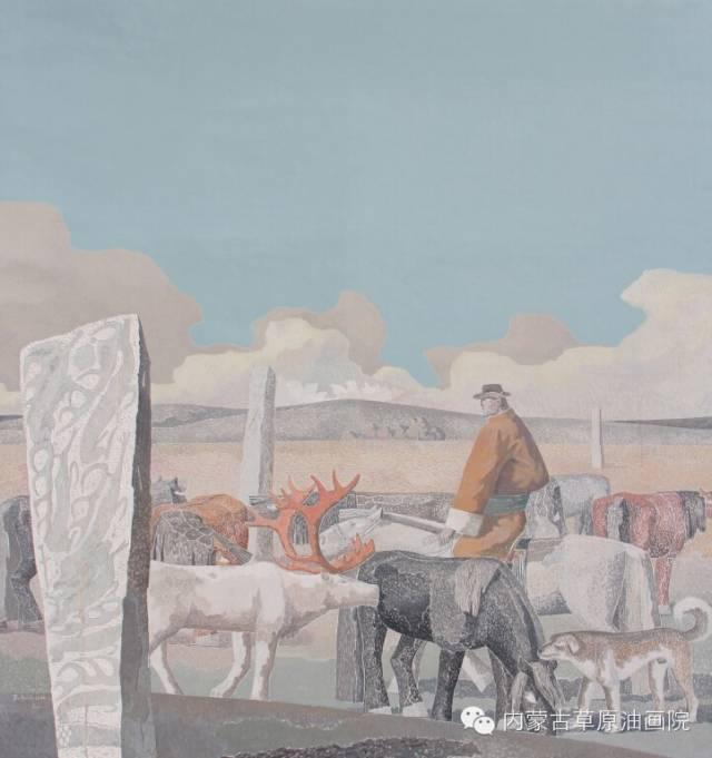 内蒙古草原油画院画家--都仁毕力格 第10张