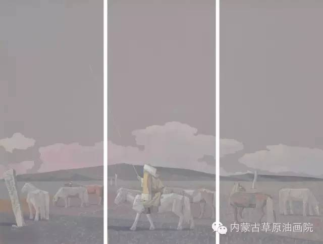 内蒙古草原油画院画家--都仁毕力格 第11张