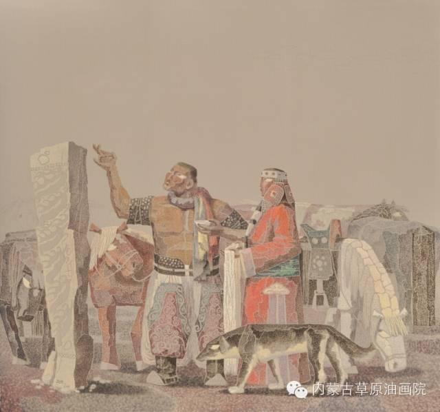 内蒙古草原油画院画家--都仁毕力格 第8张