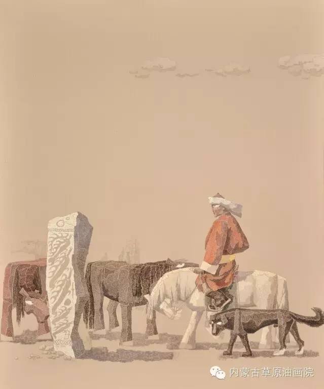 内蒙古草原油画院画家--都仁毕力格 第7张