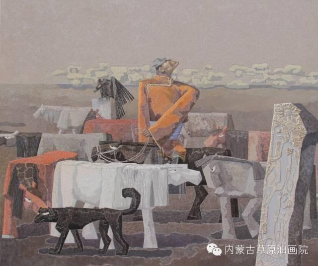 内蒙古草原油画院画家--都仁毕力格 第16张