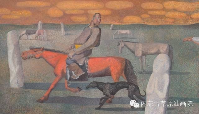 内蒙古草原油画院画家--都仁毕力格 第17张