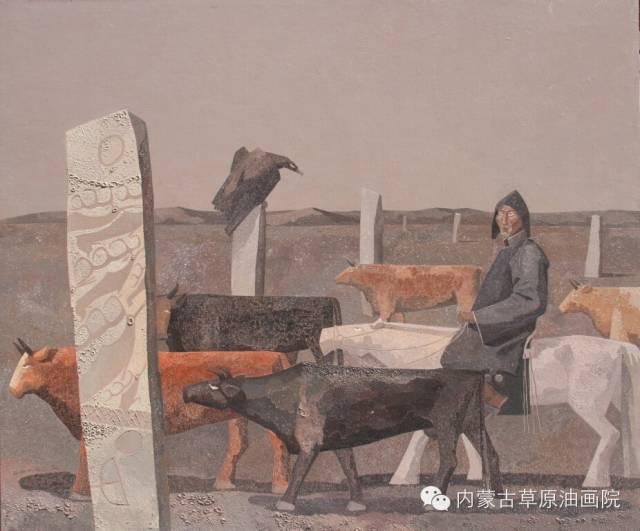 内蒙古草原油画院画家--都仁毕力格 第15张