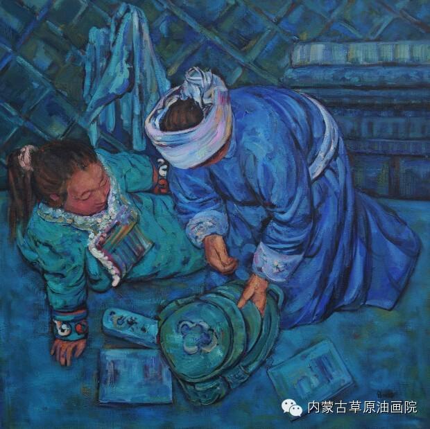 内蒙古草原油画院画家--包双梅 第10张
