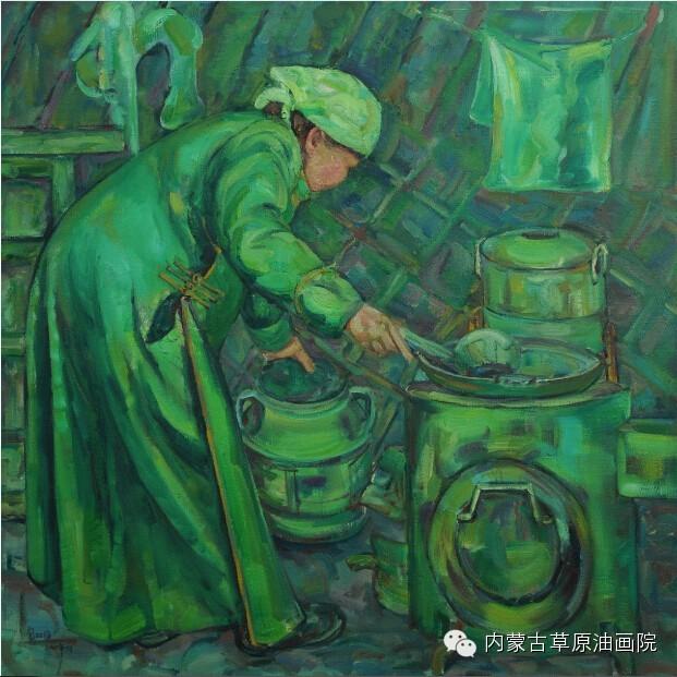 内蒙古草原油画院画家--包双梅 第12张