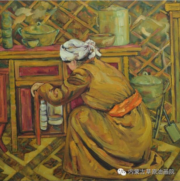 内蒙古草原油画院画家--包双梅 第13张