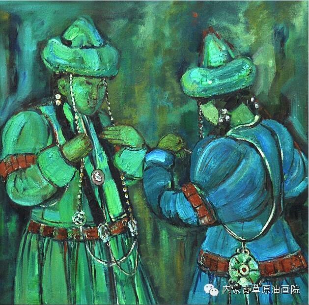 内蒙古草原油画院画家--包双梅 第14张