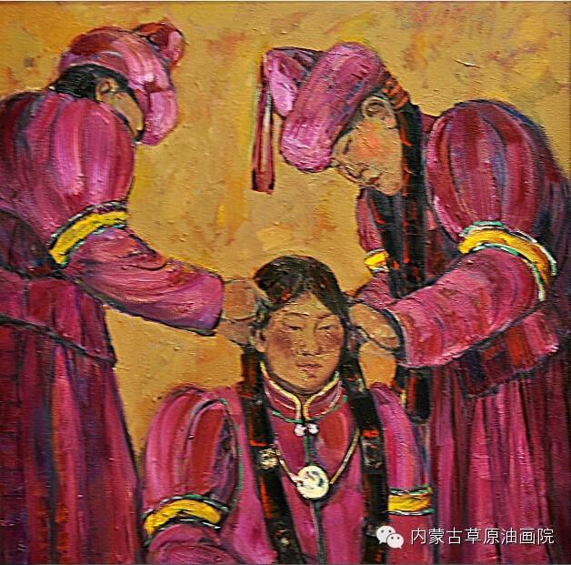 内蒙古草原油画院画家--包双梅 第15张