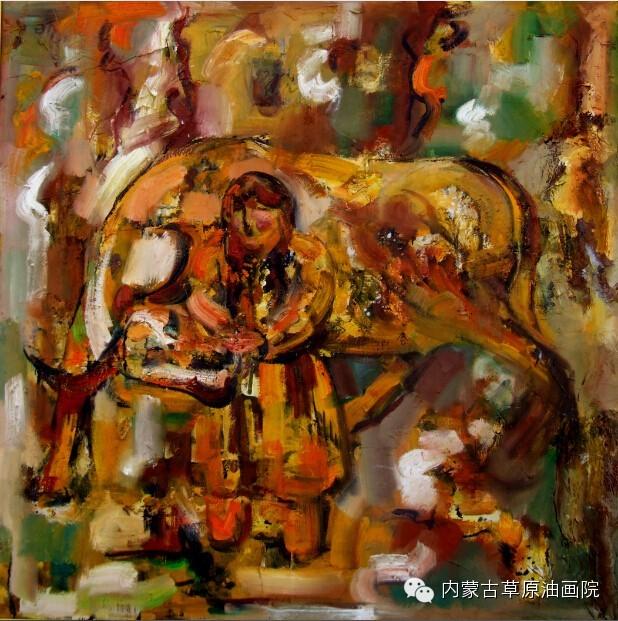 内蒙古草原油画院画家--包双梅 第19张