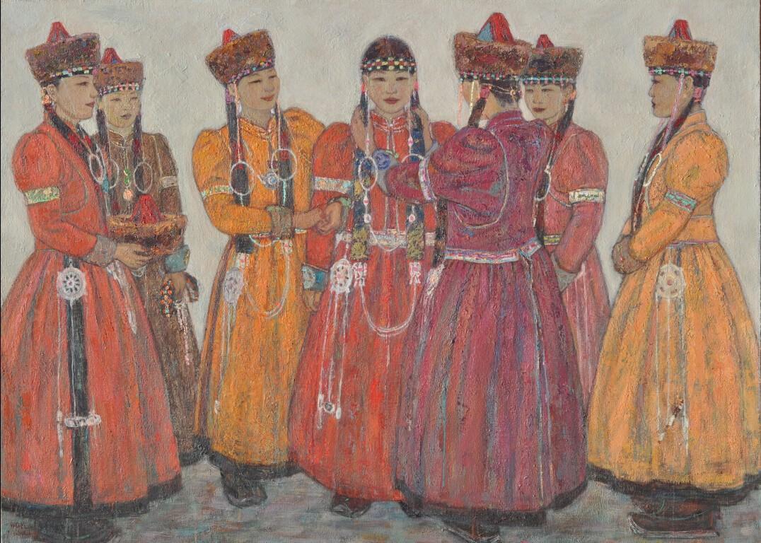 内蒙古草原油画院画家--王都一乐 第3张