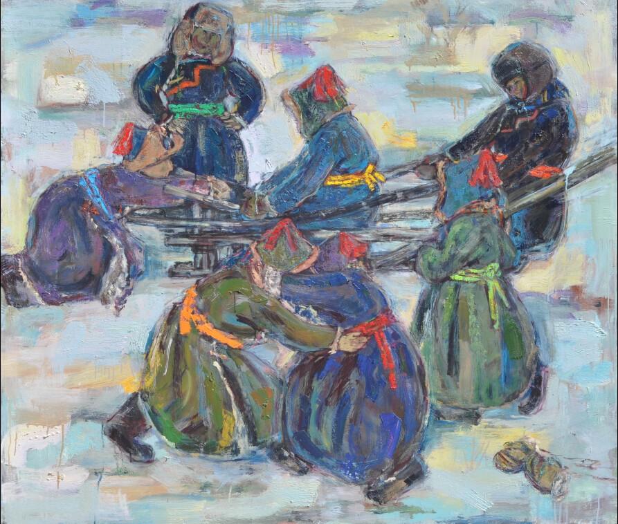 内蒙古草原油画院画家--王都一乐 第5张