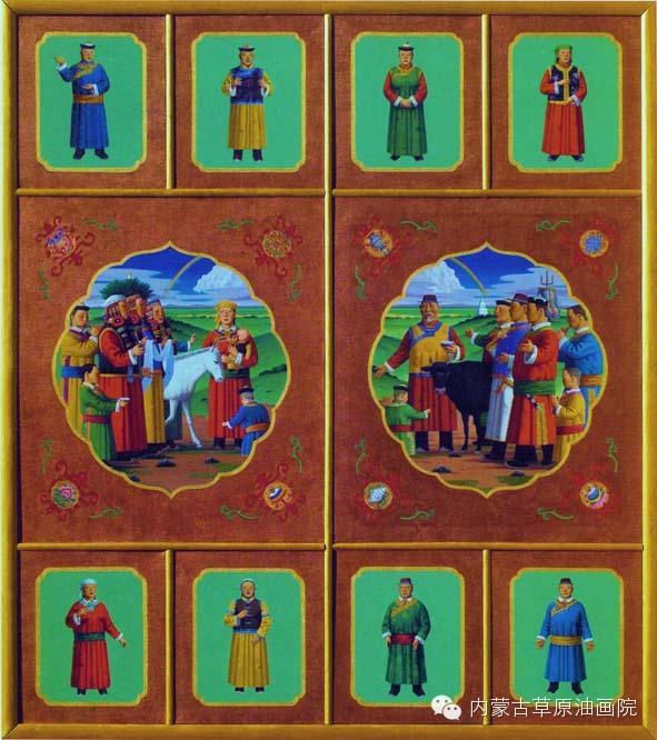 内蒙古草原油画院画家-谢建德 第3张