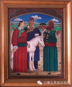 内蒙古草原油画院画家-谢建德 第5张