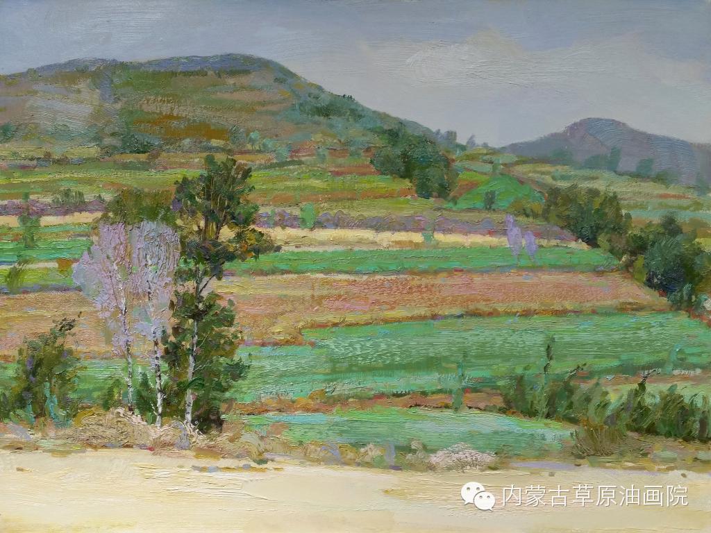 内蒙古草原油画院画家-布和朝鲁 第5张