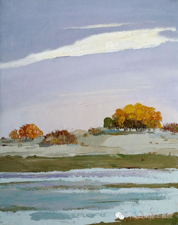 内蒙古草原油画院画家-布和朝鲁 第14张