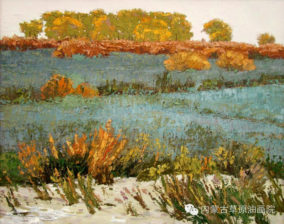 内蒙古草原油画院画家-布和朝鲁 第13张