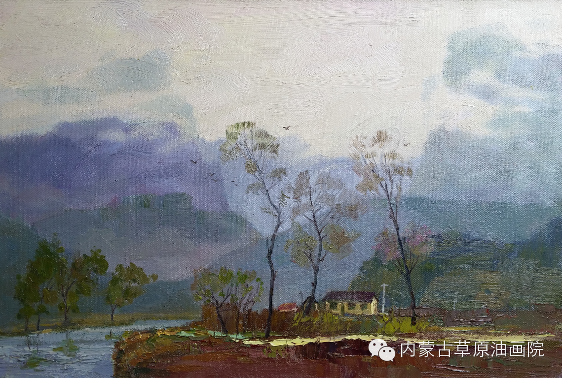 内蒙古草原油画院画家-布和朝鲁 第25张