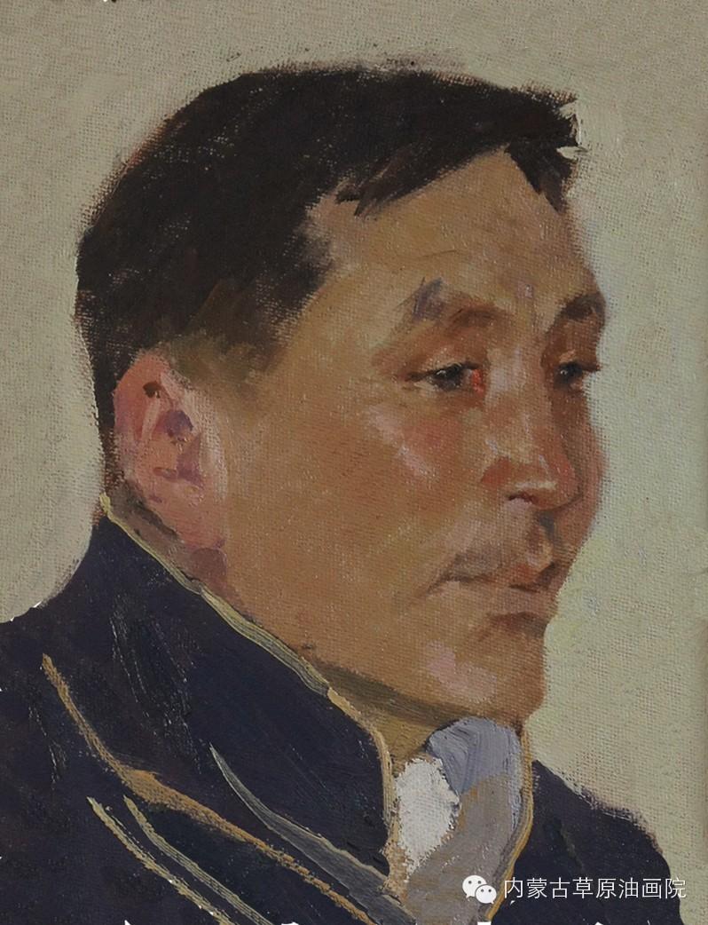 内蒙古草原油画院画家--吉尔格楞 第2张