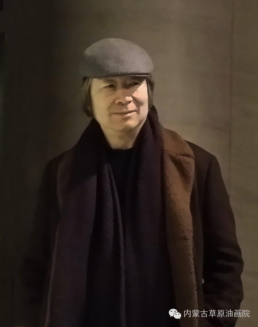 内蒙古草原油画院画家--吉尔格楞 第1张