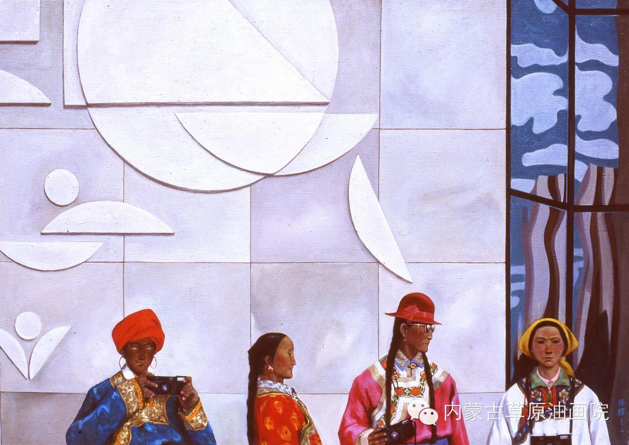 内蒙古草原油画院画家--吉尔格楞 第14张