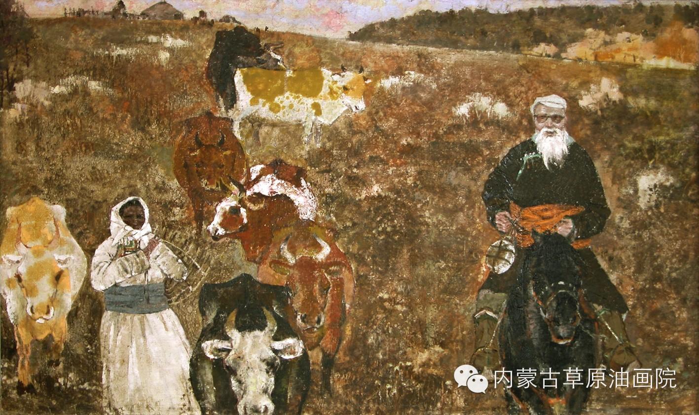 内蒙古草原油画院画家--吉尔格楞 第15张