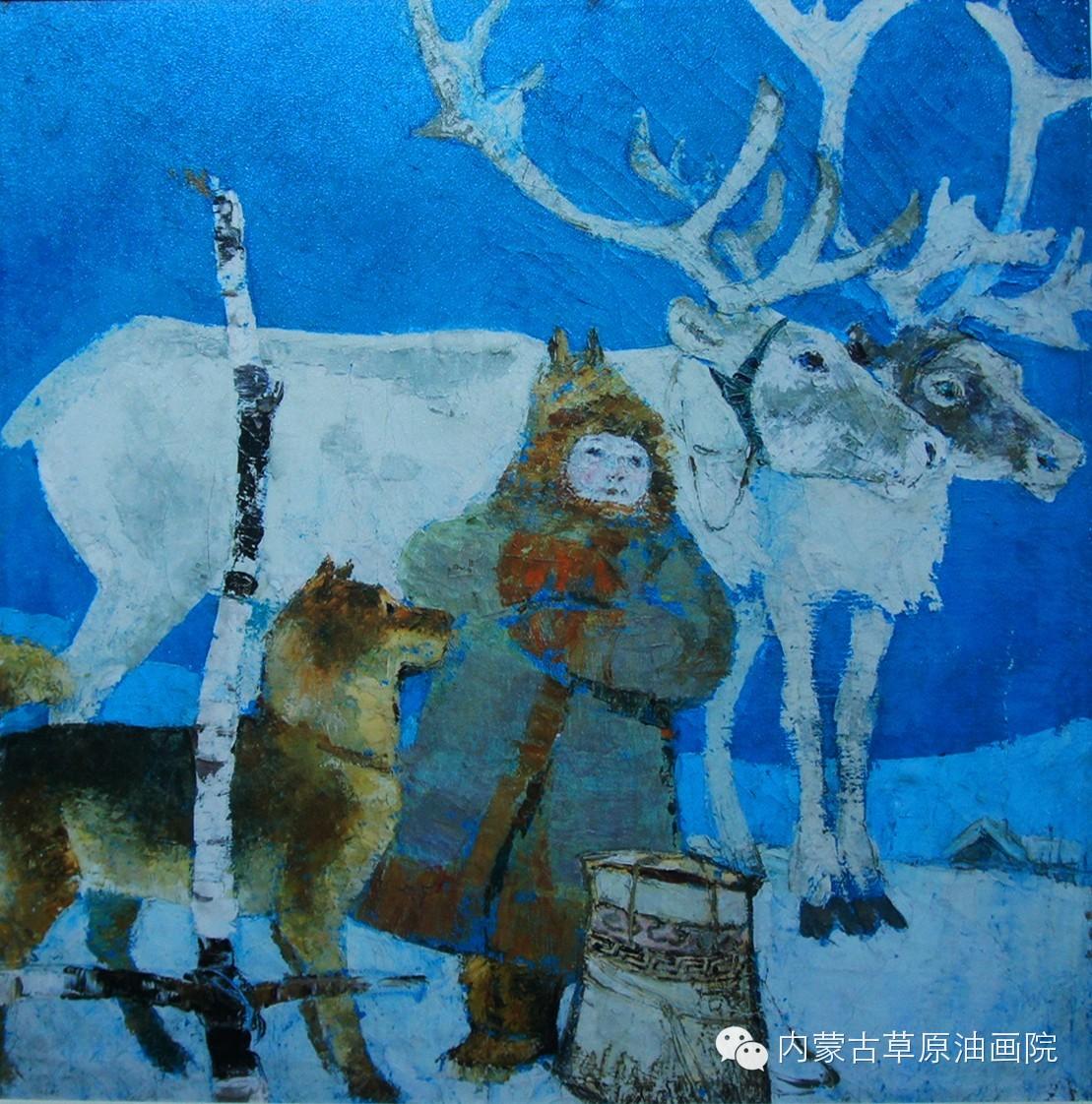 内蒙古草原油画院画家--吉尔格楞 第16张