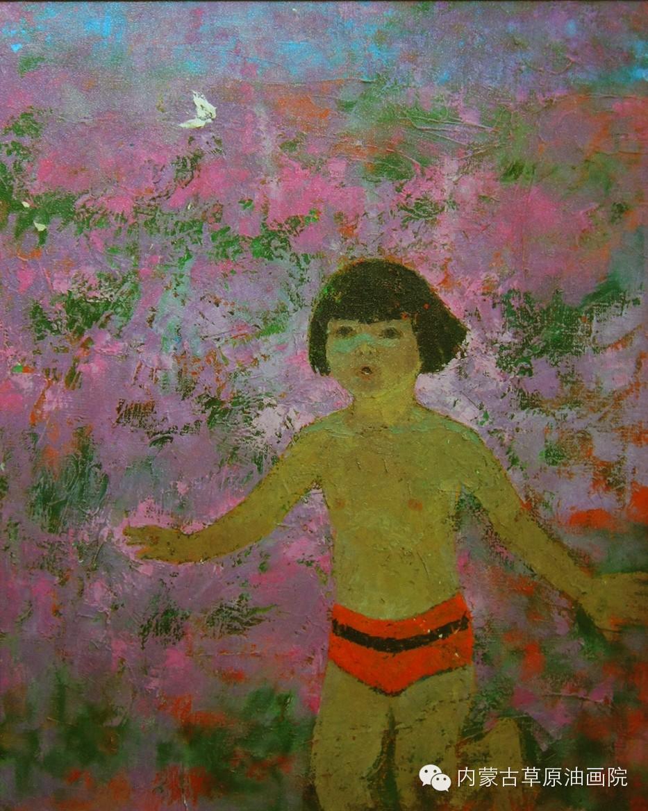 内蒙古草原油画院画家--吉尔格楞 第17张