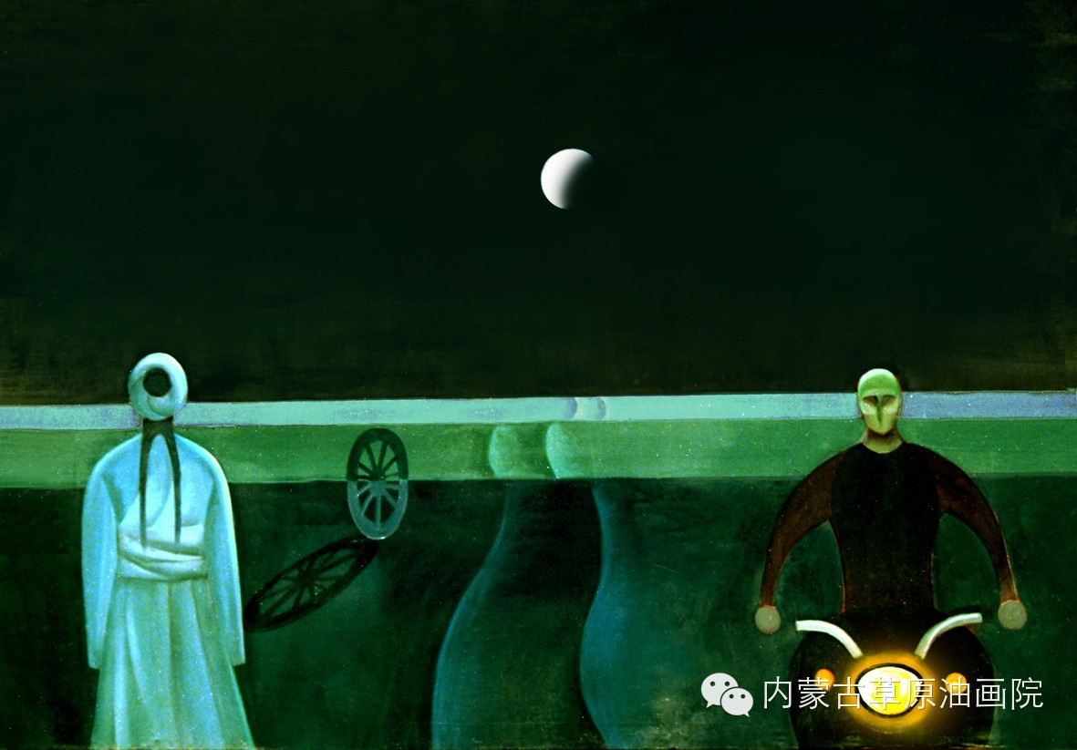 内蒙古草原油画院画家--吉尔格楞 第18张