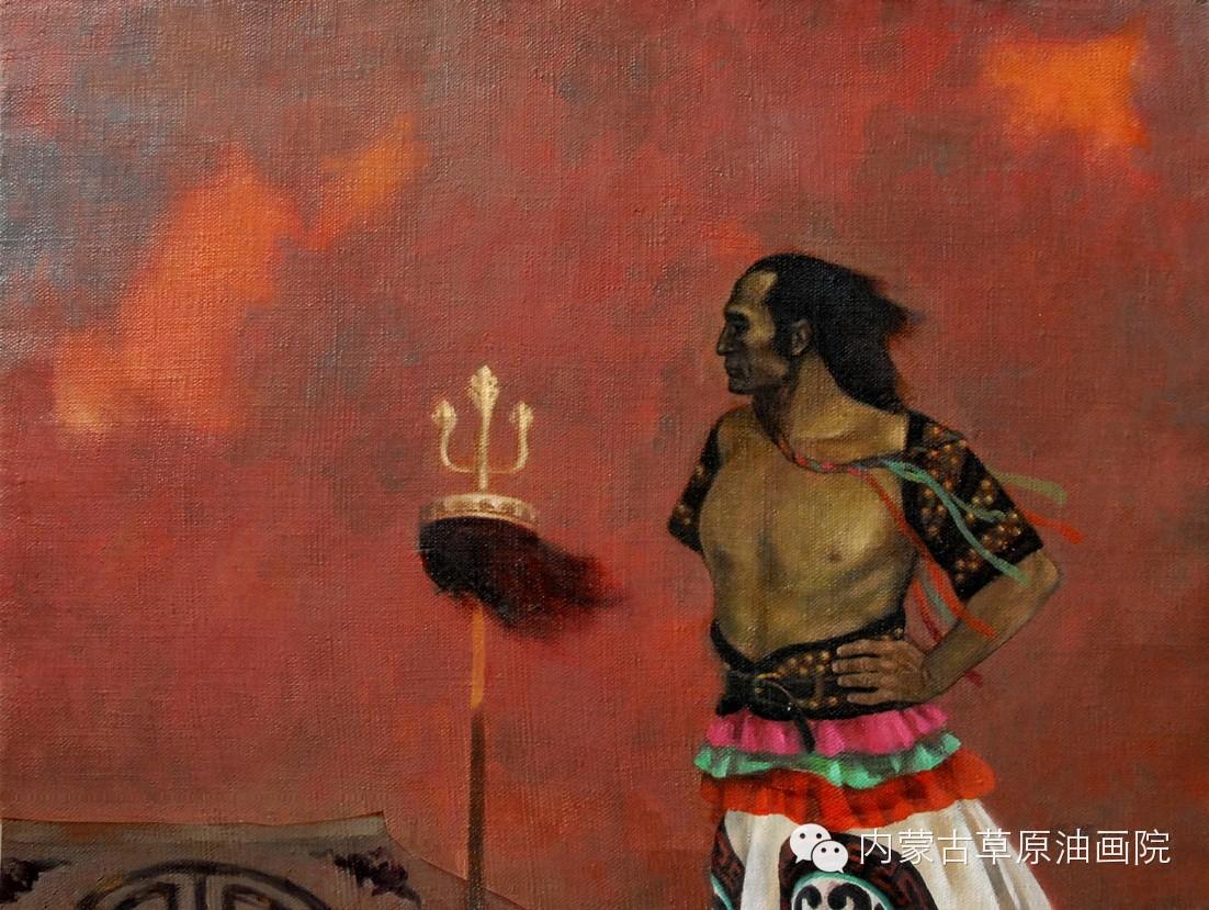 内蒙古草原油画院画家--吉尔格楞 第19张