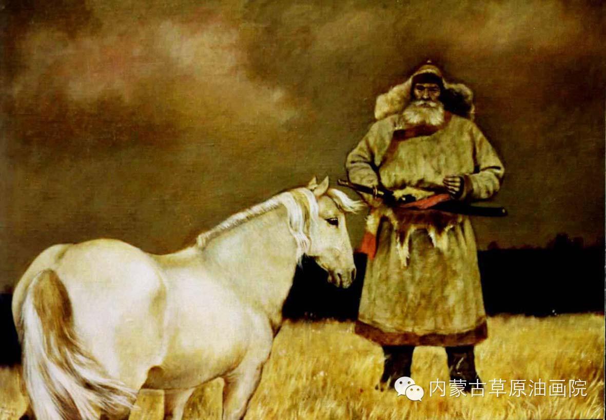 内蒙古草原油画院画家--吉尔格楞 第20张